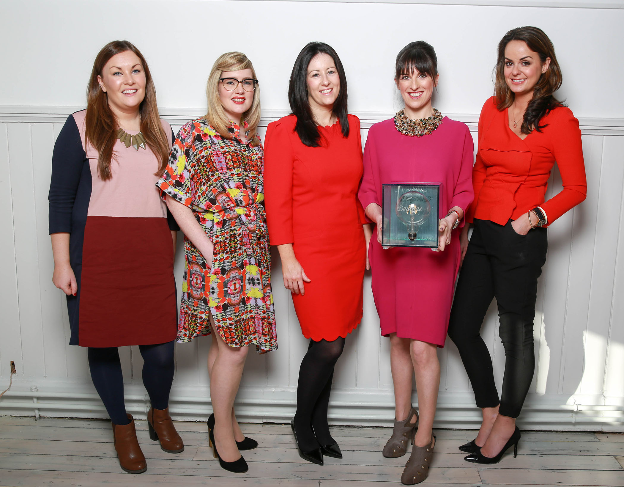 IAPI (Institute of Advertising Practitioners) this morning hosted its annual IAPI Doyenne Award breakfast on International Women's Day to mark future female leaders in the Irish advertising industry. Now in its third year, the IAPI (Institute of Advertising Practitioners in Ireland) Doyenne Award recognises women leaders working in advertising, media sales and PR .The initiative runs as part of the many international events for International Women's Day and puts the spotlight on gender imbalance in an industry where just 13% of women from IAPI member agencies are at senior management level. Pictured is Meabh Connellon, Sharon Murray, Michelle O Keefe, IAPI Doyenne Award winner Cera Ward and Astrid Brennan. ***NO FEE*** Photography: Conor Healy Photography ENDS For more information on the IAPI Doyenne Award visit www.iapi.ie Twitter handle: @IAPI_Updates #changethestats For more information contact:  Ailbhe Garrihy or Leona McDaid Email: ailbhe@thereputationsagency.ie or leonamcdaid@gmail.com  01 661 8915/ 0861381757