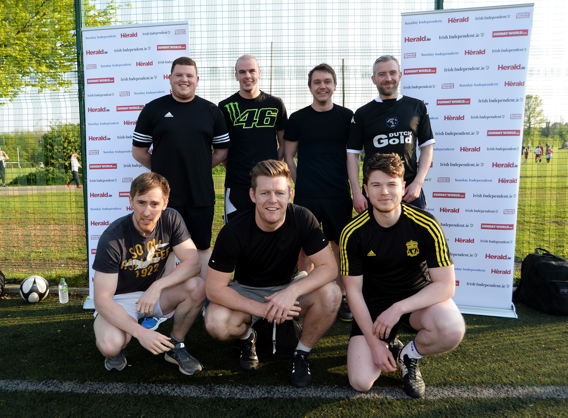 12 May 2016: Core Media team. INM Advertisers 5-a-side Tournament 2016. Templeogue United, Templeogue, Dublin. Picture: Caroline Quinn