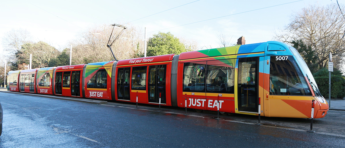 Just Eat OOH Campaign Adds Splash of Colour to Luas - AdWorld ie