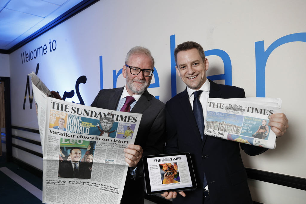 Ireland Edition of The Times Set to Launch Next Week