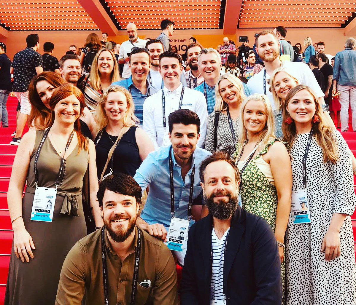 Rothco and AIB team in Cannes after winning a Bronze Cannes Lion award