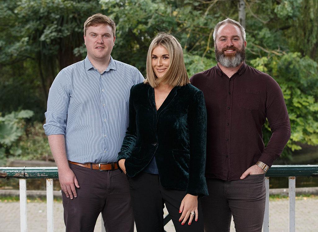 DMG Media Ireland's Rory Keane, Rebecca Horan and Adam Lacey