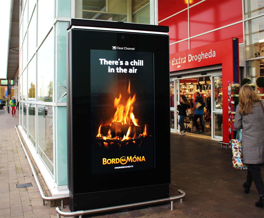 Bord Na Móna Weathers the Winter in DOOH Messaging