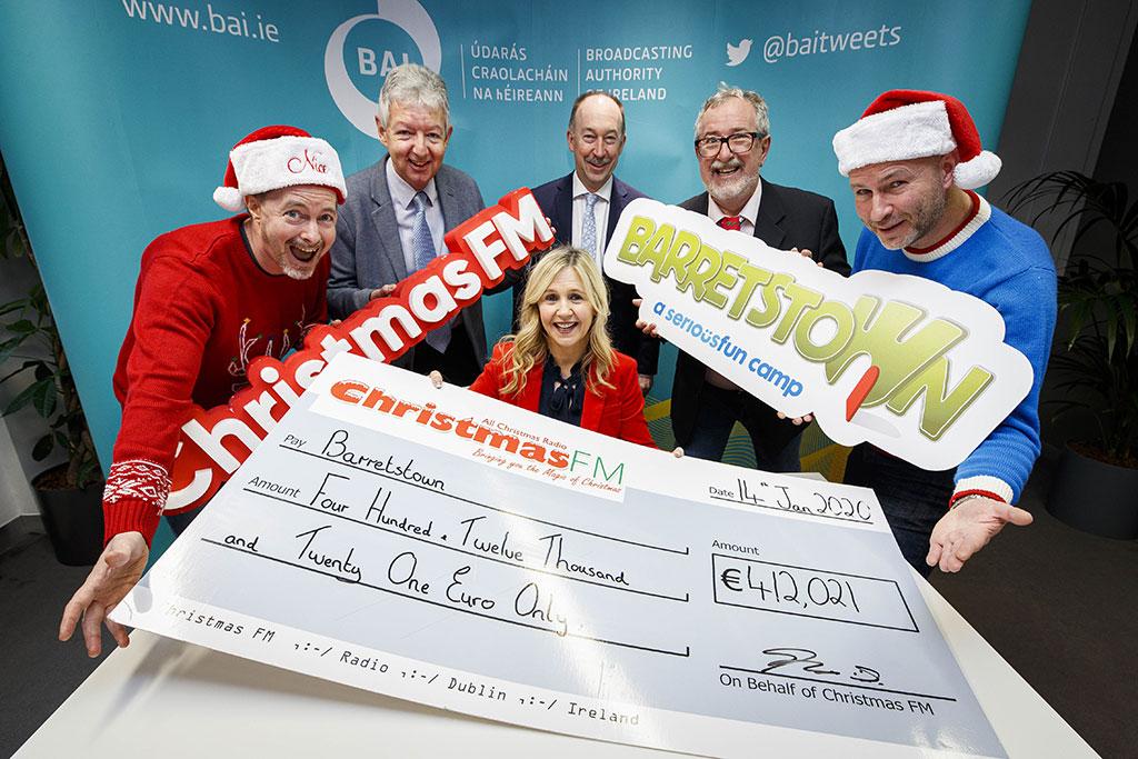Christmas FM raises €412,000 for Barretstown